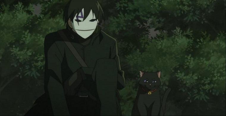Черный жнец и кот из аниме темнее черного
