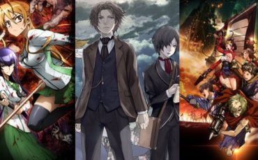 Слева направо: High School of the Dead,The Empire of Corpses, Kabaneri of the Iron Fortress
