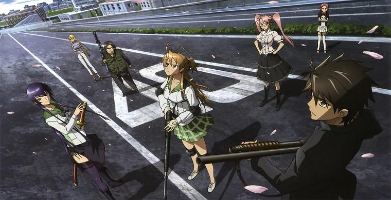 Школа мертвецов аниме про зомби