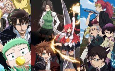 Слева направо: Beelzebub, Shinmai Maou no Testament, Ao no Exorcist