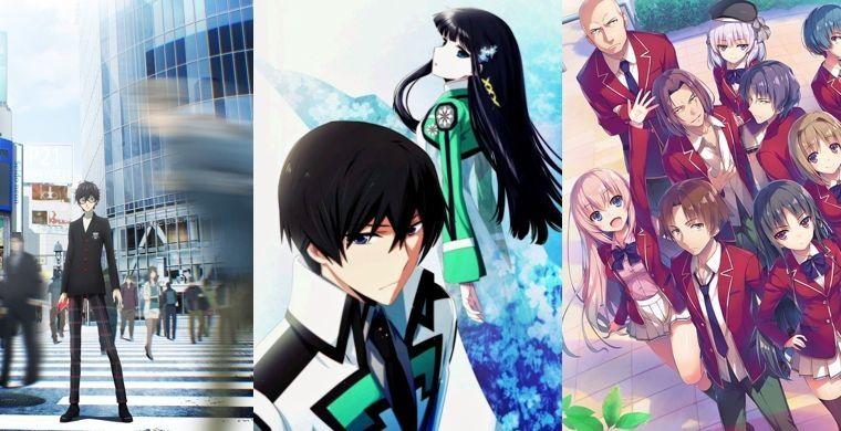 Слева направо: Persona 5, Mahouka, Classroom of the Elite