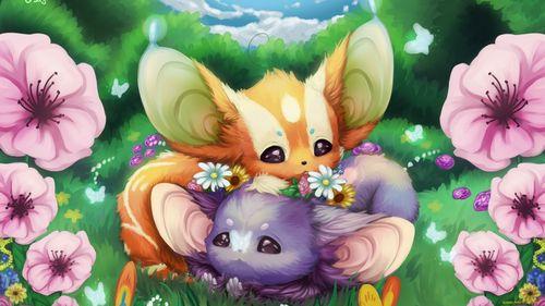 Картинки аниме животных