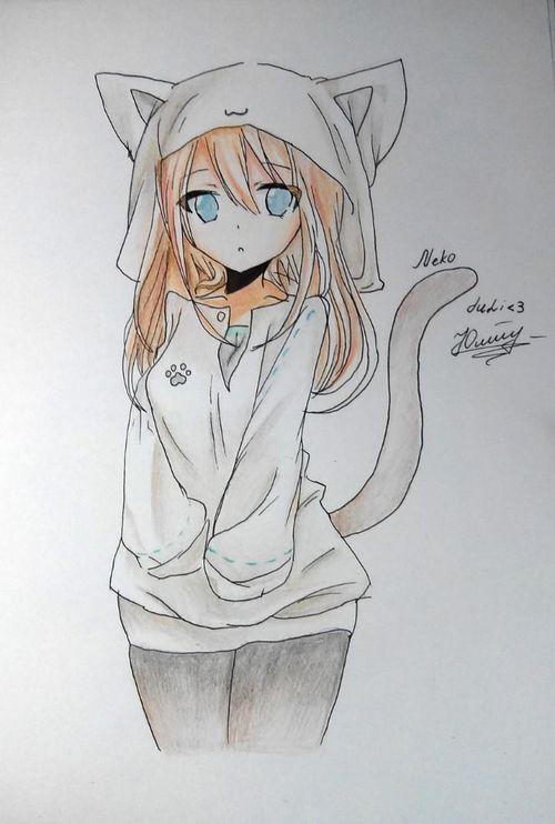 Картинки аниме котики