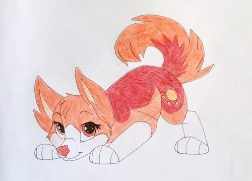 Картинки аниме собаки