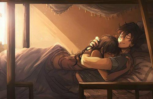 Аниме в кровати