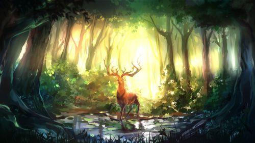 Аниме природа картинки
