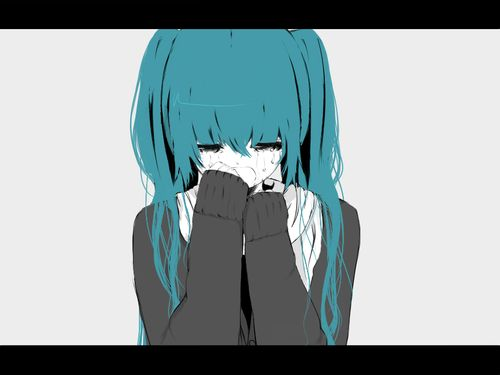 Аниме девушка плачет