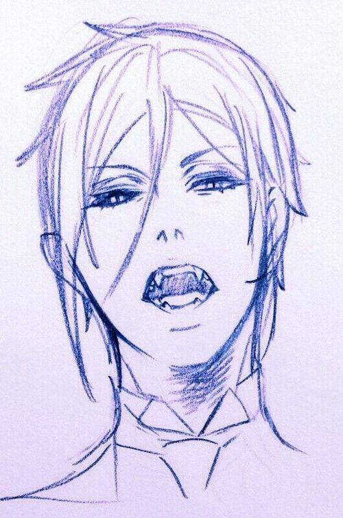Рисунки в стиле аниме - ручкой
