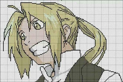 Рисунки по клеточкам аниме