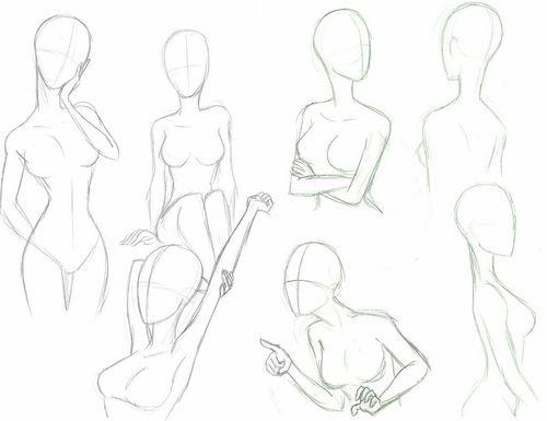 Как рисовать аниме тело девушки