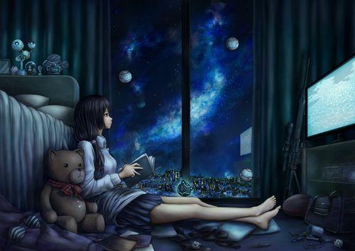 Картинки аниме спокойной ночи.