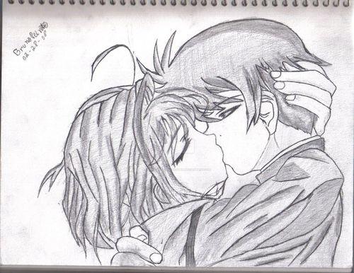 Аниме картинки поцелуи
