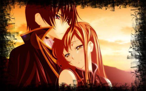 Картинки аниме любовь