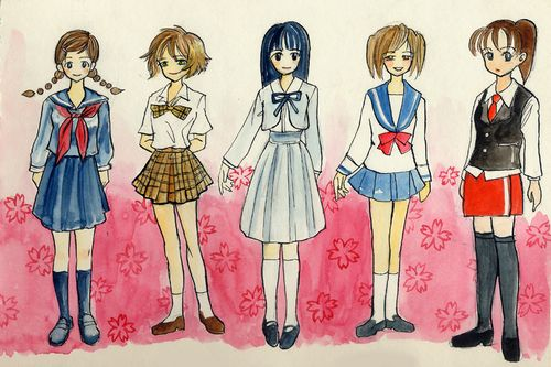 Картинки школьной формы в стиле аниме