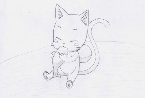 Картинки для срисовки аниме животные