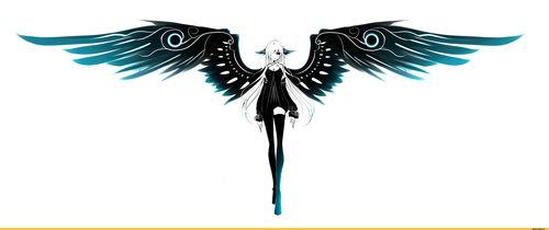 Картинки крыльев в стиле аниме