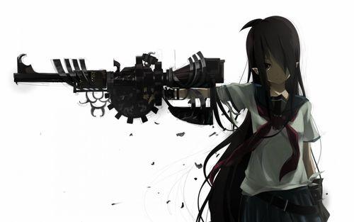 Аниме арты с оружием