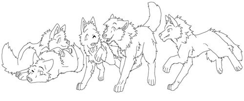 Красивые картинки и аниме рисунки волков
